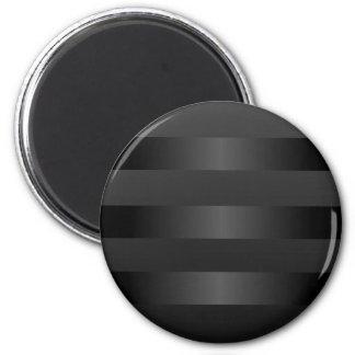 Black Gray  Stripes Pattern Refrigerator Magnets