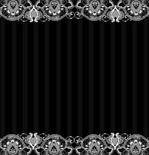 Black Gray Stripes White Vintage Lace Shower Curtain