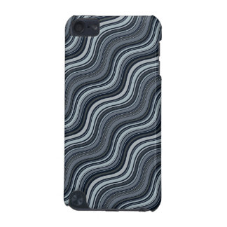 Black & Gray Swirly Lines iPod case