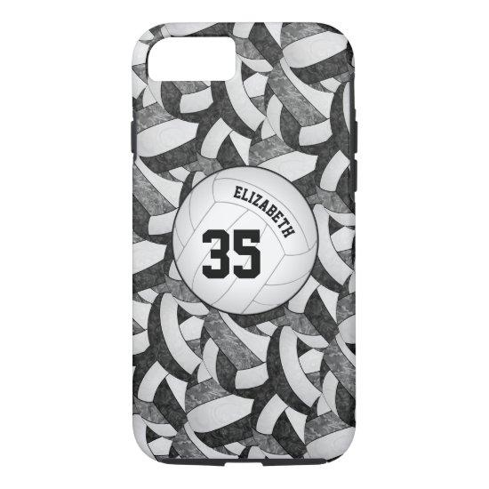 black gray team spirit gifts girls' volleyball iPhone 8/7 case
