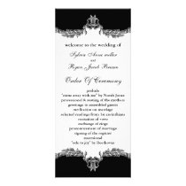 black gray Wedding program