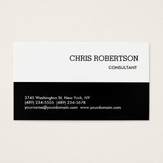 Black Gray White Classical Standard Business Card