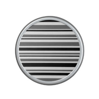 Black, Gray, White Stripes Speaker