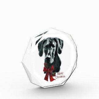 Black Great Dane Christmas Acrylic Award