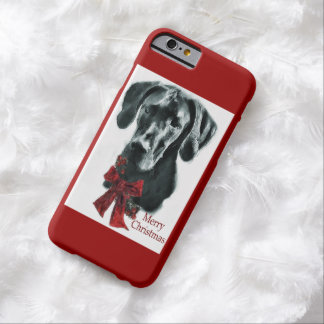 Black Great Dane Christmas Barely There iPhone 6 Case
