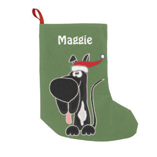 Black Great Dane Christmas Stocking