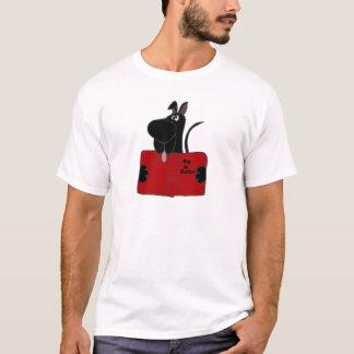 Black Great Dane Reading Book T-Shirt