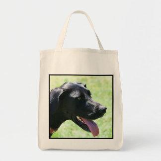 Black Great Dane tote bag