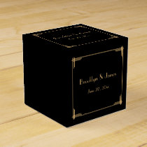 Black Great Gatsby Art Deco Wedding Favor Boxes