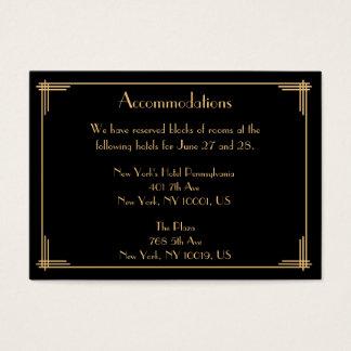 Black Great Gatsby Wedding Accommodation Cards