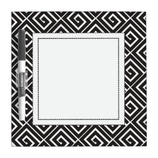 Black Greek Spirals Erase Dry Erase Board