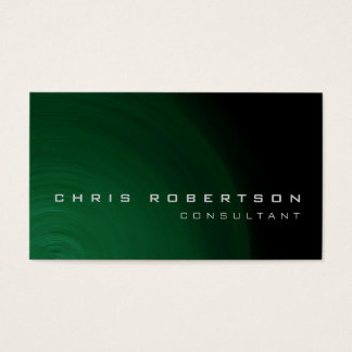 Black Green Abstract Consultant Business Card