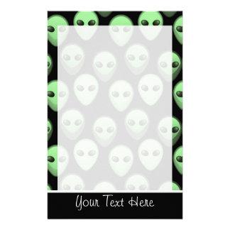 Black & Green Alien Stationery