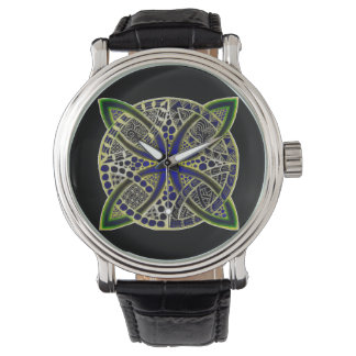 Black Green and Blue Mesmerizing Celtic Knot Watches