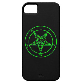 Black/Green Baphomet Phone Case iPhone 5 Cover