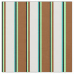 [ Thumbnail: Black, Green, Brown, Light Cyan & Light Sea Green Fabric ]