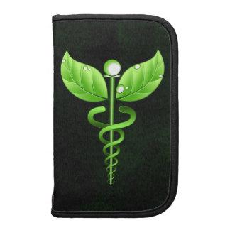 Black Green Caduceus Symbol Large Folio Planner Folio Planners