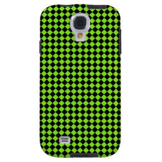 Black Green Checkered Diamond Trendy Art Pattern Galaxy S4 Case