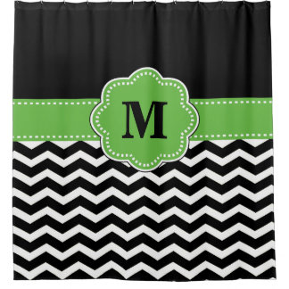 Black And Green Shower Curtains