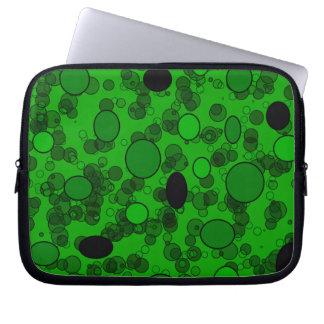 black green circles computer sleeves