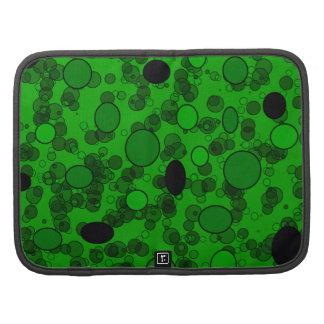 black green circles folio planner