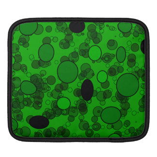 black green circles iPad sleeve
