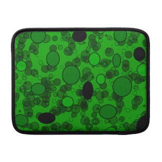 black green circles MacBook sleeves