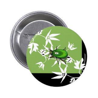 black green clematis scarab beetle button