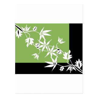 black green clematis scarab beetle design postcard