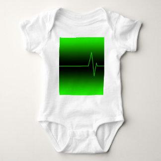 Black Green EKG Infant Creeper