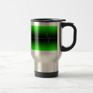 Black Green EKG Mug