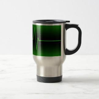 Black Green EKG Travel Mug