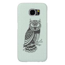Black & Green Halloween Owl Samsung Galaxy S6 Case