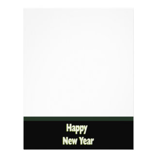 Black green Happy New Year Flyer Design