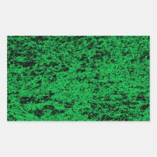 Black & Green Marble Rectangle Sticker