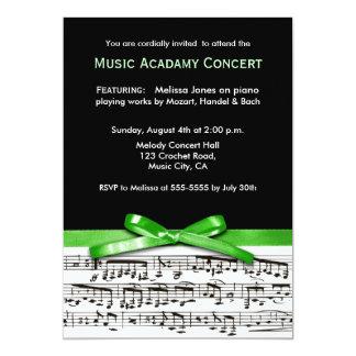 Black & green musical concert recital performance card