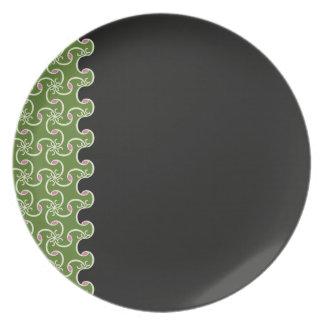 Black/Green Plate
