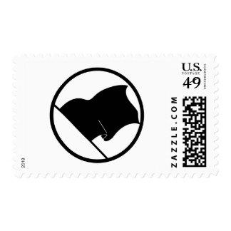 Black Green Purple Flag Plain No Symbol Blank Stamp