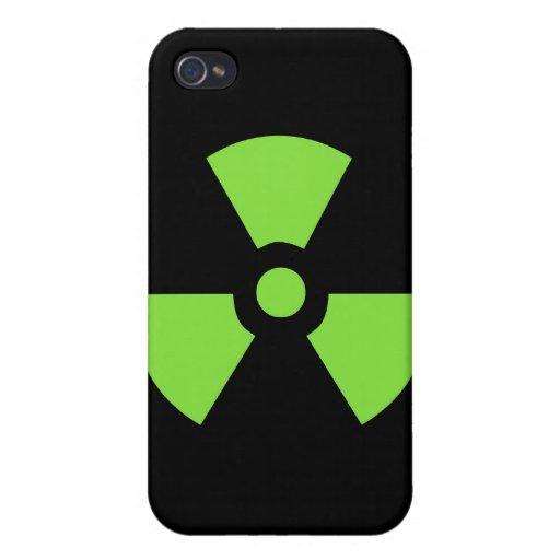 BLACK GREEN RADIOACTIVE SYMBOL DANGER TOXIC POISON iPhone 4/4S CASE