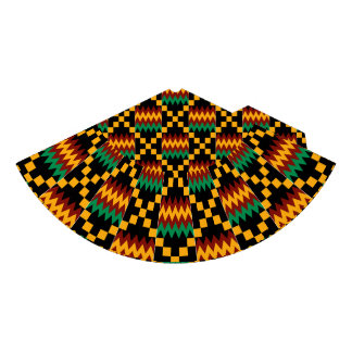 Black, Green, Red, Yellow Kente Cloth Party Hat