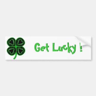 Black Green Shamrock -1- St Patrick's Day Bumper Sticker