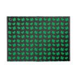 Black green shamrocks and hearts covers for iPad mini