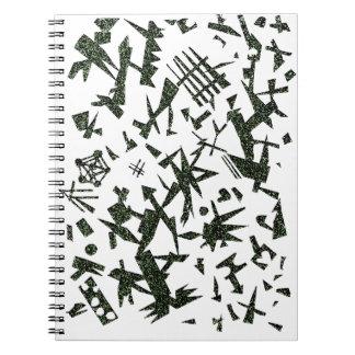 Black Green Shapes Notebook