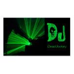 Black Green Skull DJ Business Card