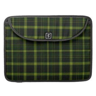 Black Green Tartan Plaid Large Pattern Sleeve For MacBook Pro