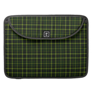 Black Green Tartan Plaid Small Pattern Sleeve For MacBook Pro