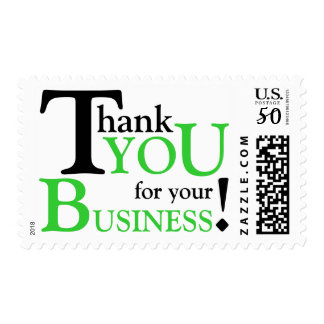 """Black & Green """"Thank you for your Business"""" Postage"""