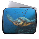 Black (Green) Turtle (Chelonia agassizi) off Laptop Sleeves