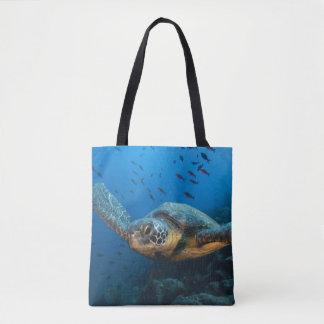 Black (Green) Turtle (Chelonia agassizi) Tote Bag