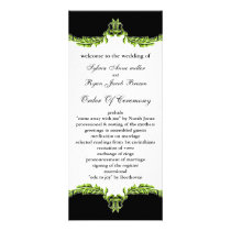 black green Wedding program